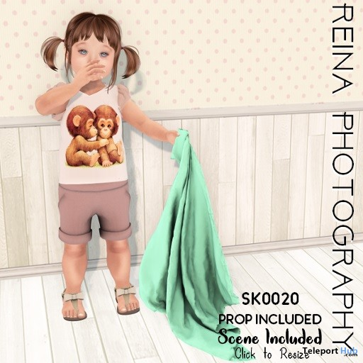 Kid Single Bento Pose With Prop & Scene March 2019 Gift by Reina Photography- Teleport Hub - teleporthub.com
