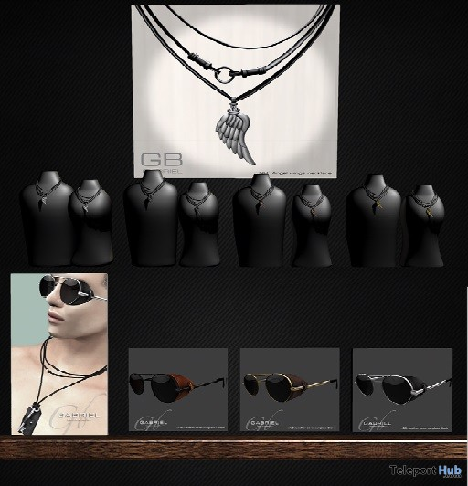 "Unisex Angel Wings Necklace & Leather Cover Sunglasses 1L Promo Gift by GABRIEL @ FREEBIES ""F"" Store - Teleport Hub - teleporthub.com"