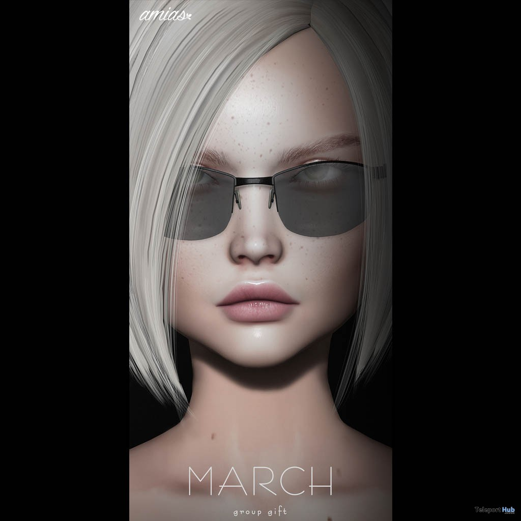 Sunglasses March 2019 Group Gift by amias- Teleport Hub - teleporthub.com