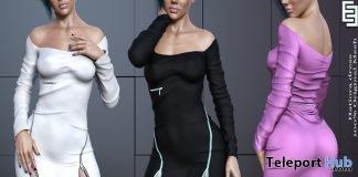 New Release: Hatiora Dress by ElvenElder @ Shiny Shabby March 2019- Teleport Hub - teleporthub.com