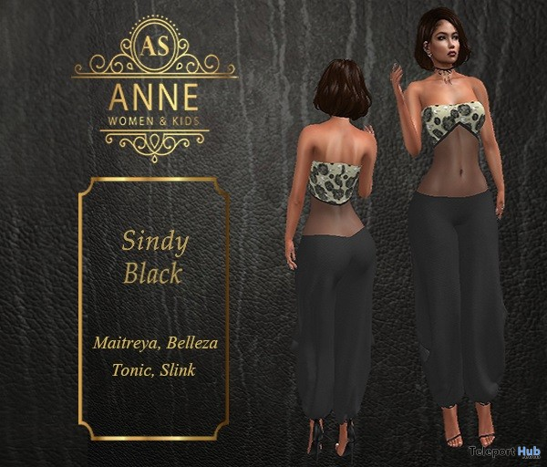 Sindy Black Outfit 10L Promo by Anne Store- Teleport Hub - teleporthub.com