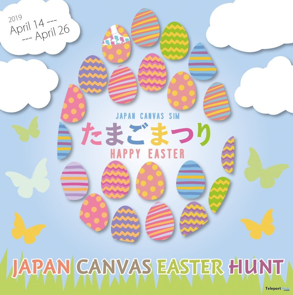 Japan Canvas Sim Easter Egg Hunt 2019 - Teleport Hub - teleporthub.com