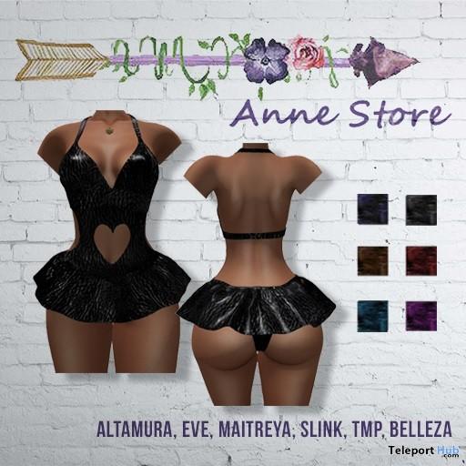 Luna Leather Dress 1L Promo by Anne Store- Teleport Hub - teleporthub.com