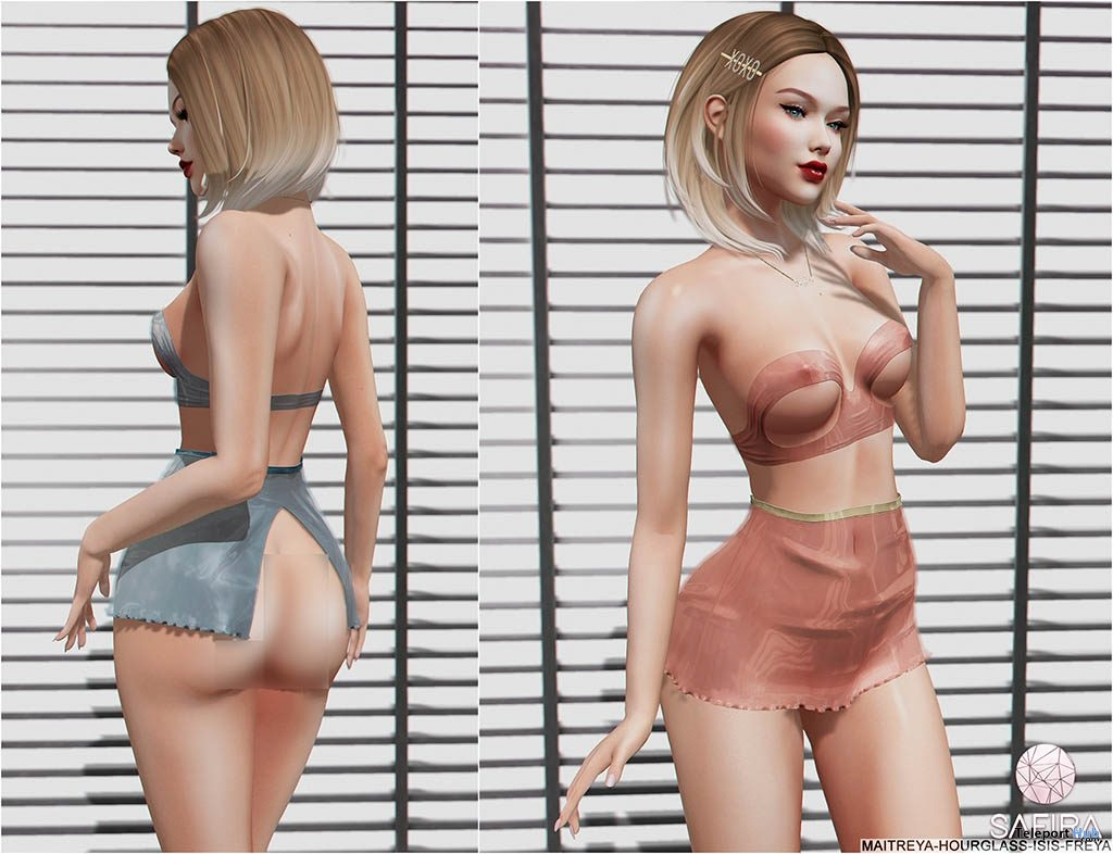Elvie Outfit April 2019 Group Gift by Safira- Teleport Hub - teleporthub.com