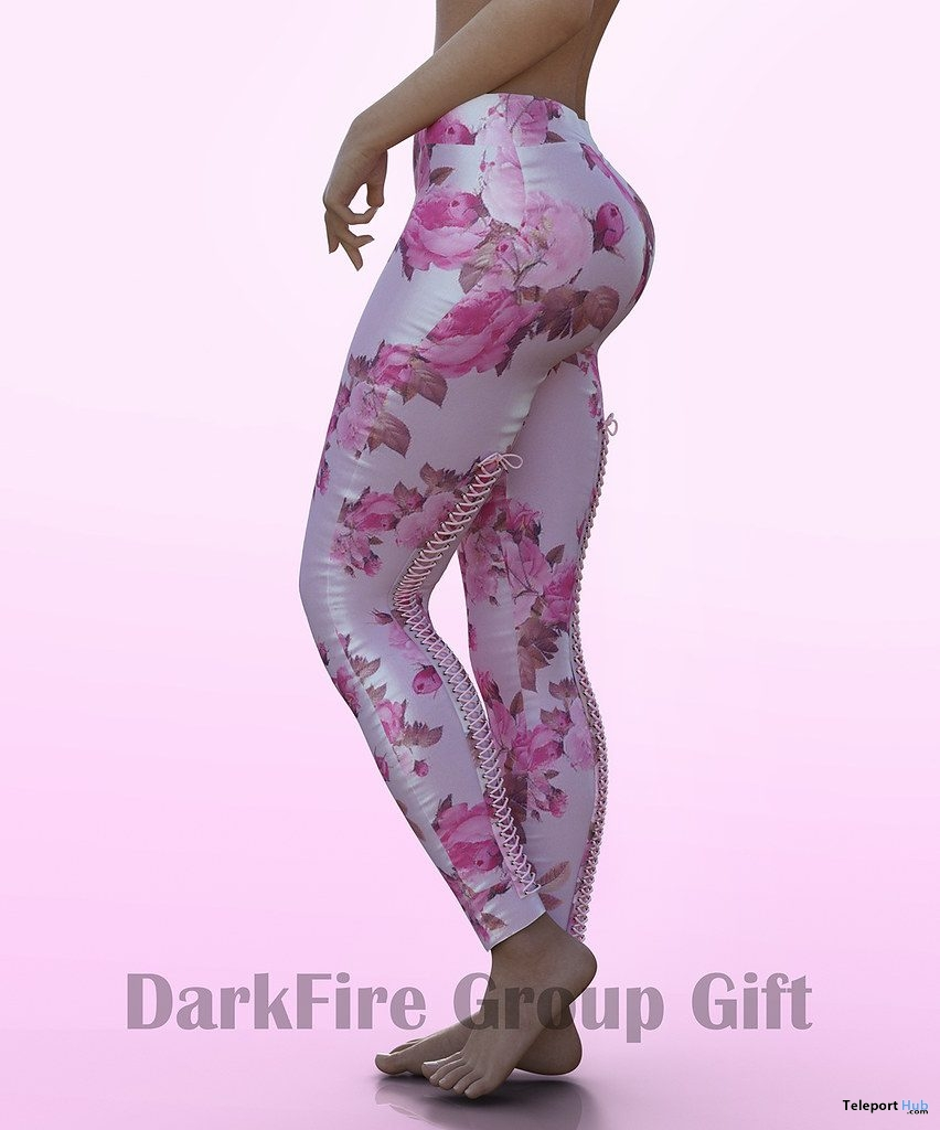 Floral Leggings April 2019 Group Gift by DarkFire - Teleport Hub - teleporthub.com