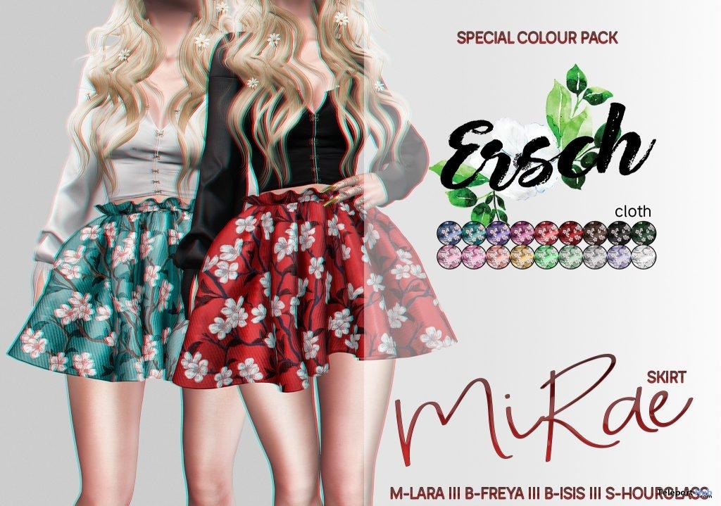 MiRae Skirt April 2019 Group Gift by ERSCH- Teleport Hub - teleporthub.com