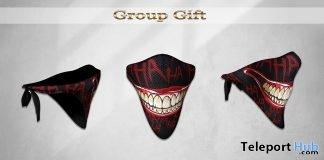 Bandana Mask joker April 2019 Group Gift by Treized Designs- Teleport Hub - teleporthub.com