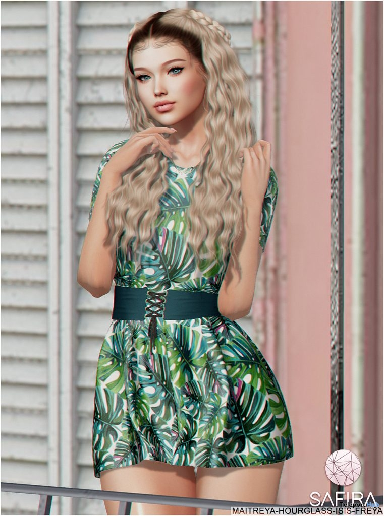 Sophie Dress Exclusive Pattern April 2019 Group Gift by Safira- Teleport Hub - teleporthub.com