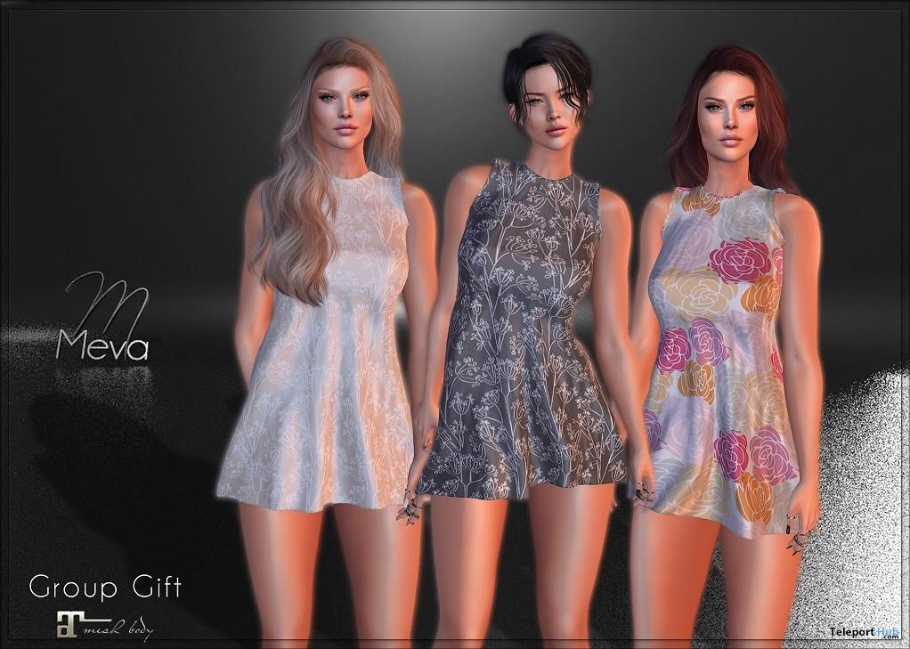 Floral Dress April 2019 Group Gift by Meva- Teleport Hub - teleporthub.com