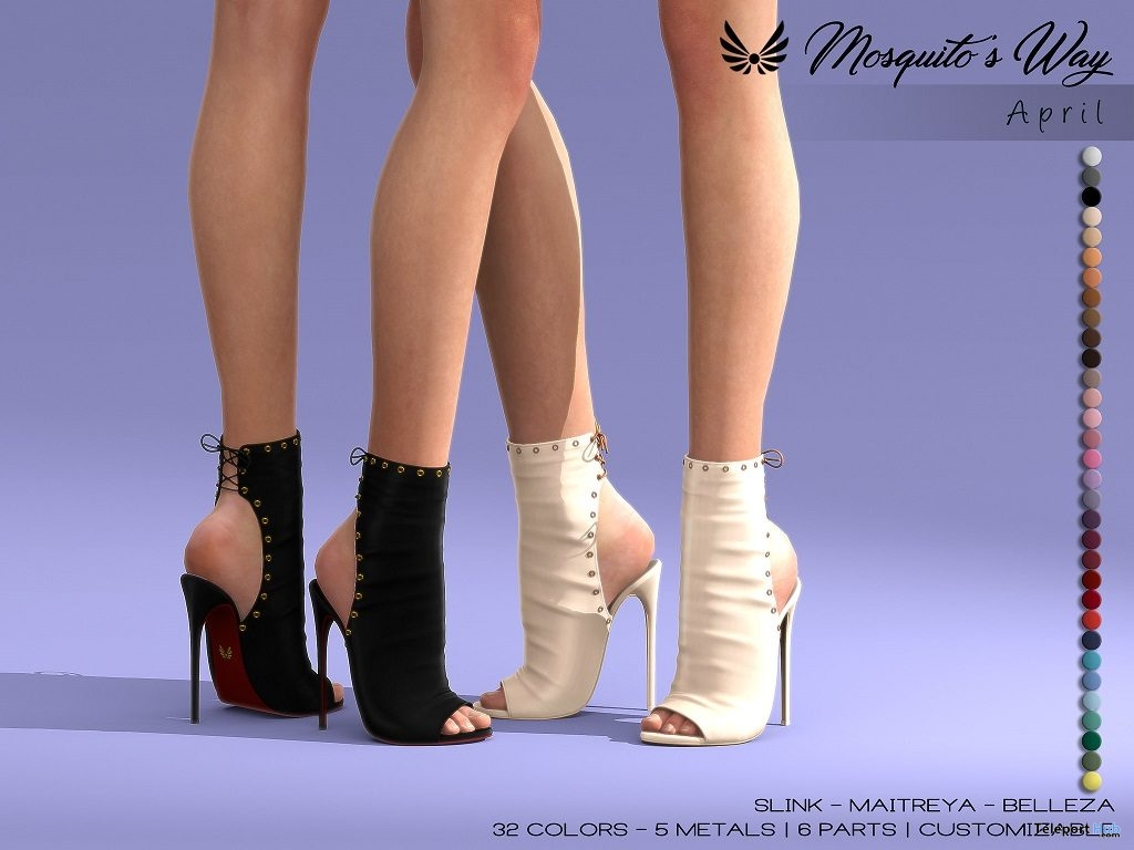 New Release: April Shoes by Mosquito's Way @ Sense Event April 2019 - Teleport Hub - teleporthub.com