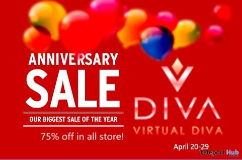 Virtual Diva Couture 75% off Anniversary Sale Event 2019- Teleport Hub - teleporthub.com