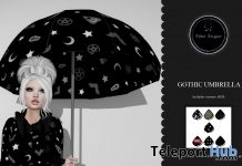 Gothic Umbrella April 2019 Gift by Star Sugar- Teleport Hub - teleporthub.com