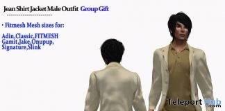 Jean Shirt Jacket Male Outfit April 2019 Group Gift by AmAzIng CrEaTiOnS - Teleport Hub - teleporthub.com