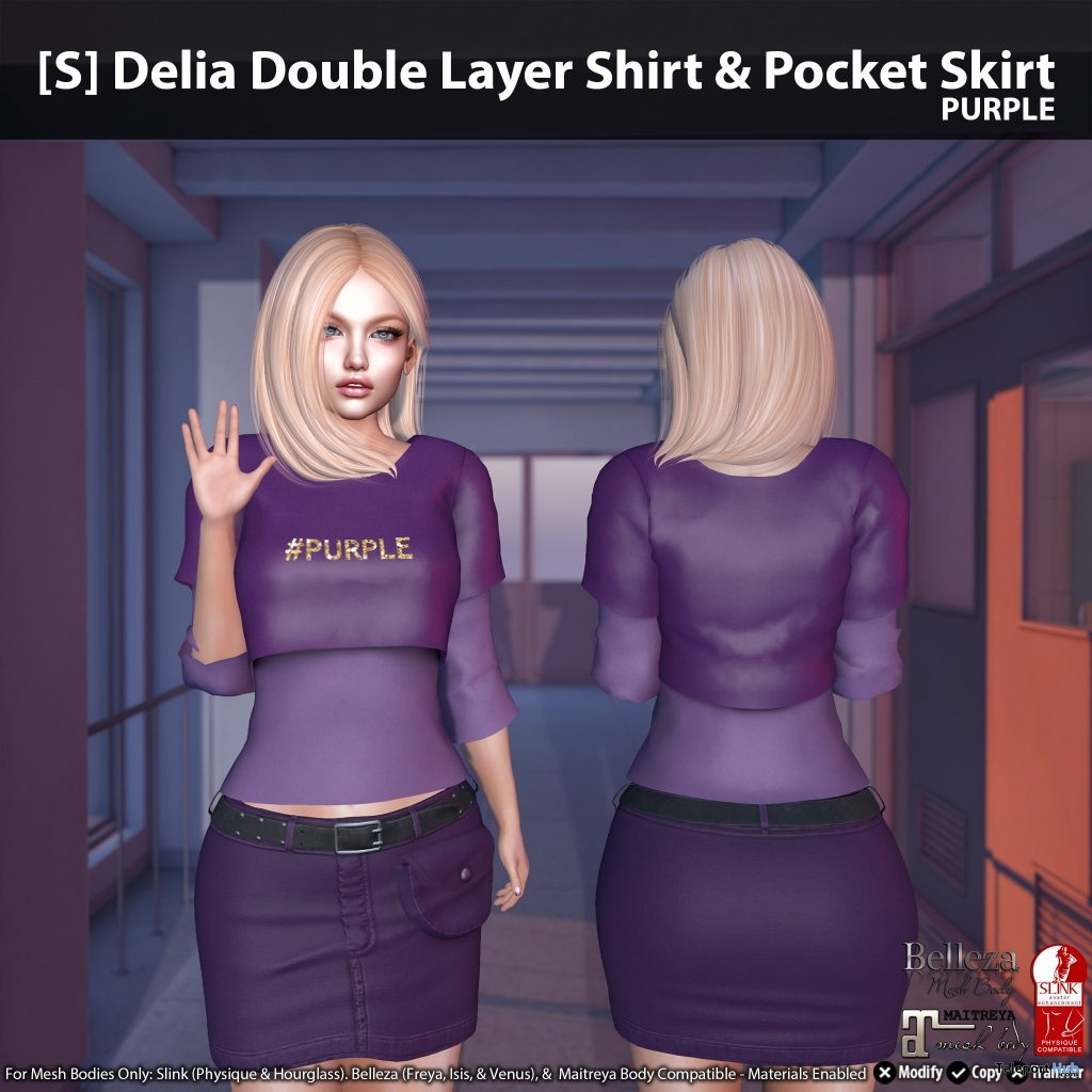 New Release: [S] Delia Double Layer Shirt & Pocket Skirt by [satus Inc] - Teleport Hub - teleporthub.com