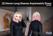 New Release: [S] Deron Long Sleeves Asymmetric Dress by [satus Inc] - Teleport Hub - teleporthub.com