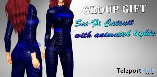 Sci-Fi Catsuit Mesh With Animated Light April 2019 Group Gift by Velvets Dreams - Teleport Hub - teleporthub.com