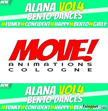New Release: Alana Vol 4 Bento Dance Pack by MOVE! Animations Cologne- Teleport Hub - teleporthub.com