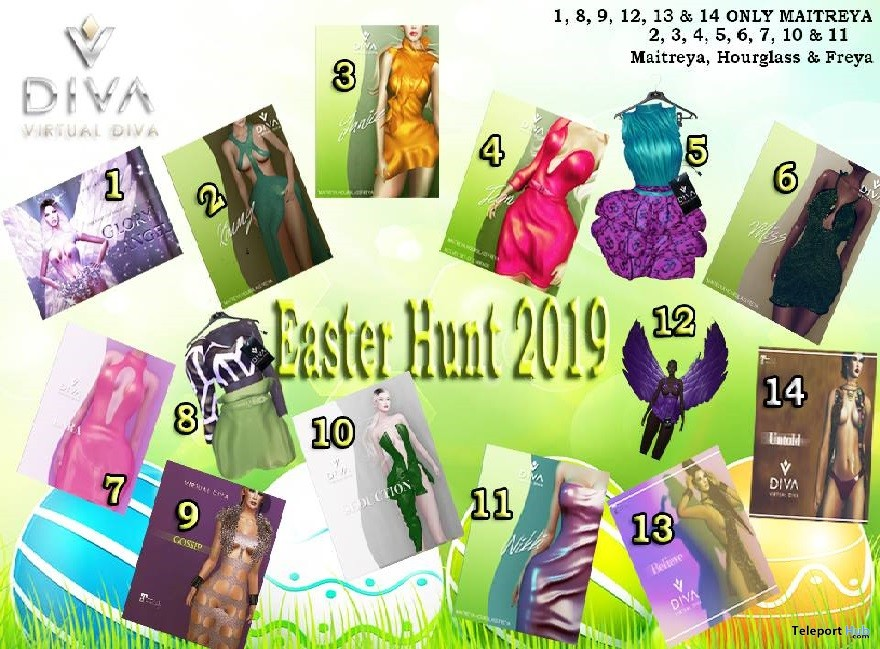 Virtual Diva Easter Hunt 2019 - Teleport Hub - teleporthub.com