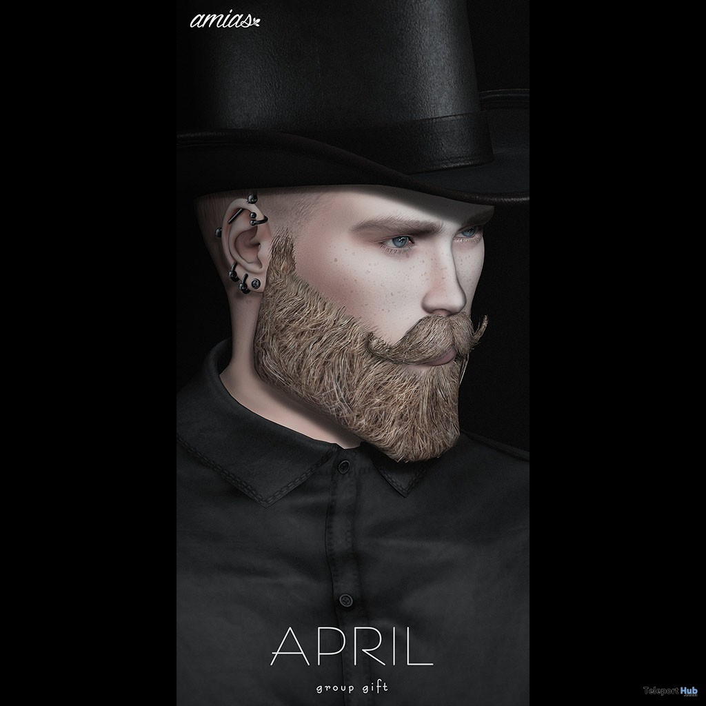 Hat Brown & Black April 2019 Group Gift by amias- Teleport Hub - teleporthub.com