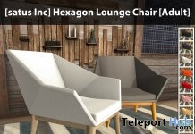 New Release: Hexagon Lounge Chair by [satus Inc] - Teleport Hub - teleporthub.com