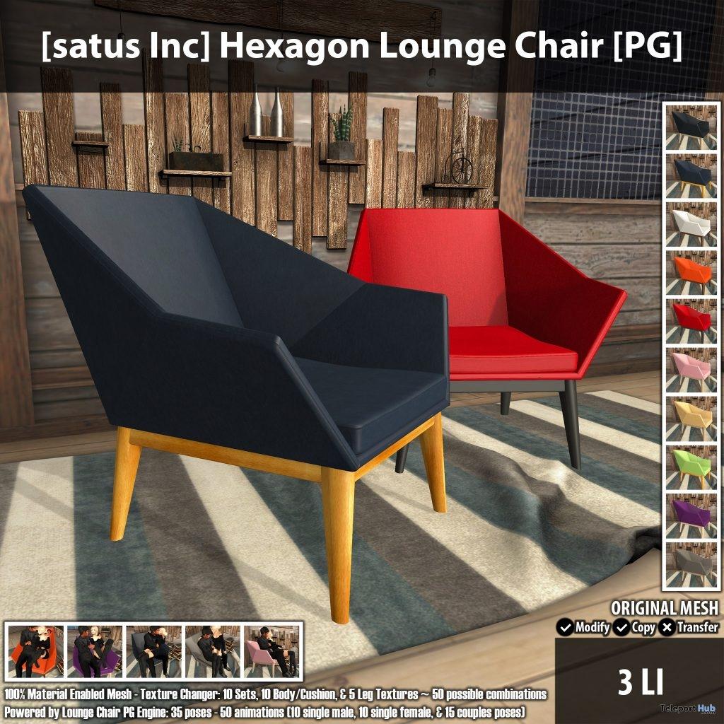New Release: Hexagon Lounge Chair by [satus Inc]- Teleport Hub - teleporthub.com