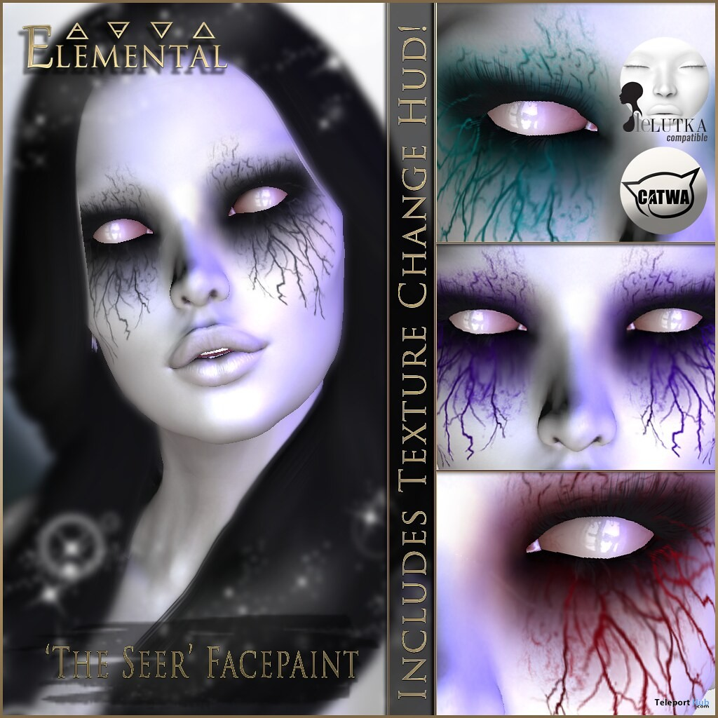 The Seer Face Paint May 2019 Group Gift by Elemental- Teleport Hub - teleporthub.com