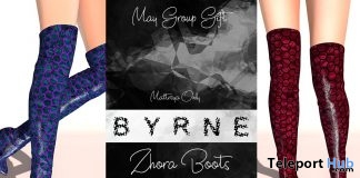 Zhora Boots May 2019 Group Gift by BYRNE - Teleport Hub - teleporthub.com