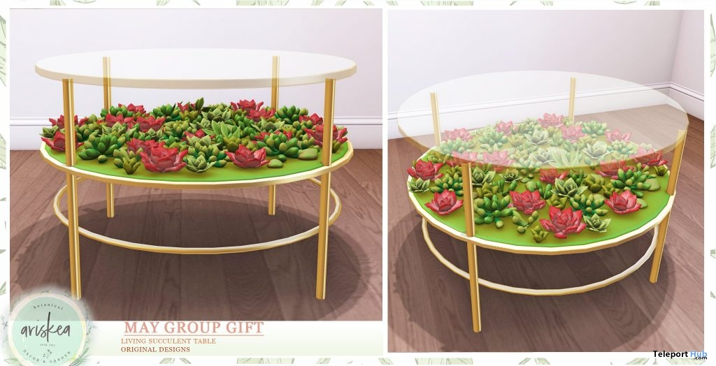Living Succulent Table May 2019 Group Gift by Ariskea- Teleport Hub - teleporthub.com