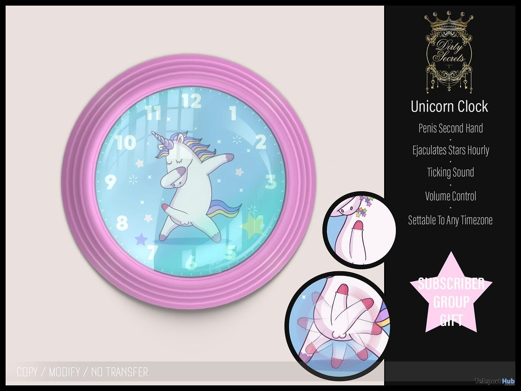 Unicorn Clock May 2019 Subscriber Gift by Dirty Secrets- Teleport Hub - teleporthub.com
