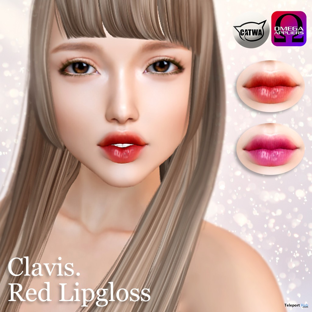 Red Lipgloss May 2019 Gift by Clavis- Te- Teleport Hub - teleporthub.com