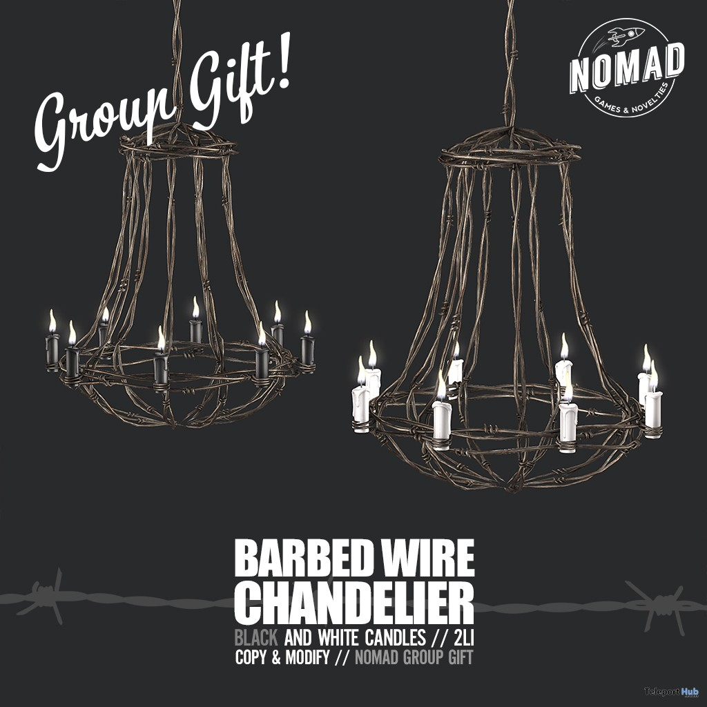 Barbed Wire Chandelier May 2019 Group Gift by NOMAD - Teleport Hub - teleporthub.com