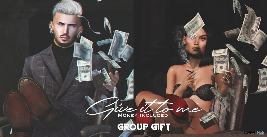 Give It To Me Unisex Pose With Money Prop May 2019 Group Gift by Navajo - Teleport Hub - teleporthub.com