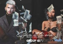 Give It To Me Unisex Pose With Money Prop May 2019 Group Gift by Navajo- Teleport Hub - teleporthub.com