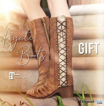 Agate Boots Gift by Belle Epoque @ We Love RolePlay May 2019- Teleport Hub - teleporthub.com