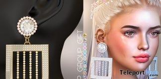 Nina Earrings May 2019 Group Gift by MICHAN- Teleport Hub - teleporthub.com