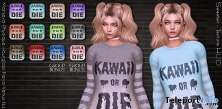 Kawaii Or Die Sweaters Fatpack May 2019 Group Gift by Envious- Teleport Hub - teleporthub.com