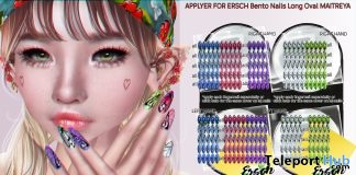 Butterflies Oval Mesh Nails Applier May 2019 Group Gift by ERSCH- Teleport Hub - teleporthub.com