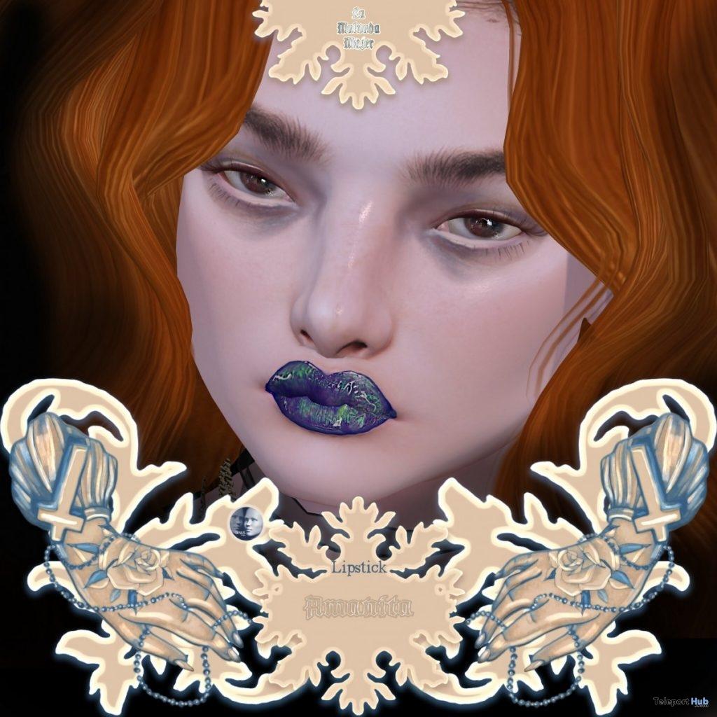 Amanita Lipstick For Genus Mesh Head May 2019 Group Gift by La Malvada Mujer- Teleport Hub - teleporthub.com
