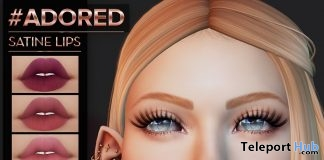 Satine Lips Cutie Club Edition May 2019 Group Gift by #adored- Teleport Hub - teleporthub.com