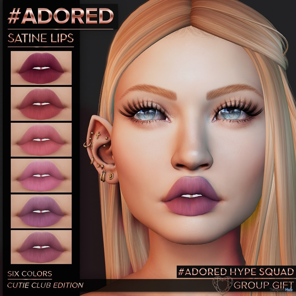 Satine Lips Cutie Club Edition May 2019 Group Gift by #adored - Teleport Hub - teleporthub.com