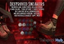 Destroyed Sneakers 50% Off Promo by AsteroidBox - Teleport Hub - teleporthub.com