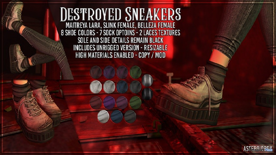 Destroyed Sneakers 50% Off Promo by AsteroidBox- Teleport Hub - teleporthub.com