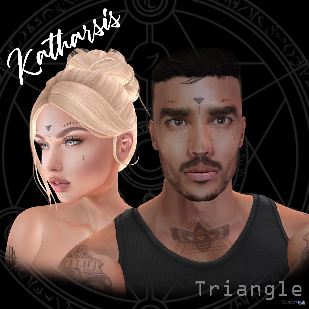 Triangle Unisex Face Tattoo May 2019 Group Gift by Katharsis - Teleport Hub - teleporthub.com