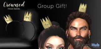 Crown Headband Gold Unisex May 2019 Group Gift by MajestiX- Teleport Hub - teleporthub.com