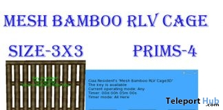Mesh Bamboo RLV Cage May 2019 Group Gift by Carissa Designs - Teleport Hub - teleporthub.com