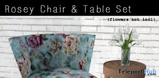 Rosey Chair & Table Set May 2019 Group Gift by Ballade - Teleport Hub - teleporthub.com