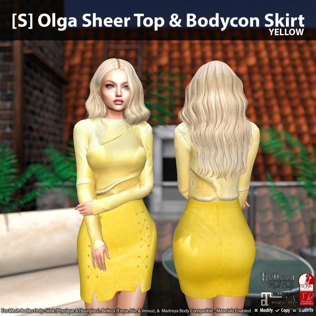 New Release: [S] Olga Sheer Top & Bodycon Skirt by [satus Inc]- Teleport Hub - teleporthub.com