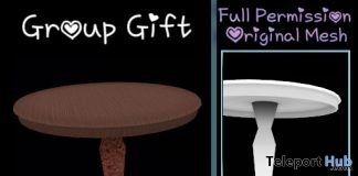 Full Perm Small Round Table May 2019 Group Gift by Sherbert- Teleport Hub - teleporthub.com
