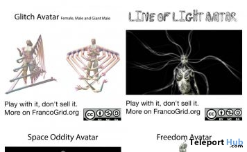 Line of Sight, Freedom, Space Oddity, Freedom, & Glitch Avatars Gifts by Cherry's Freebox - Teleport Hub - teleporthub.com
