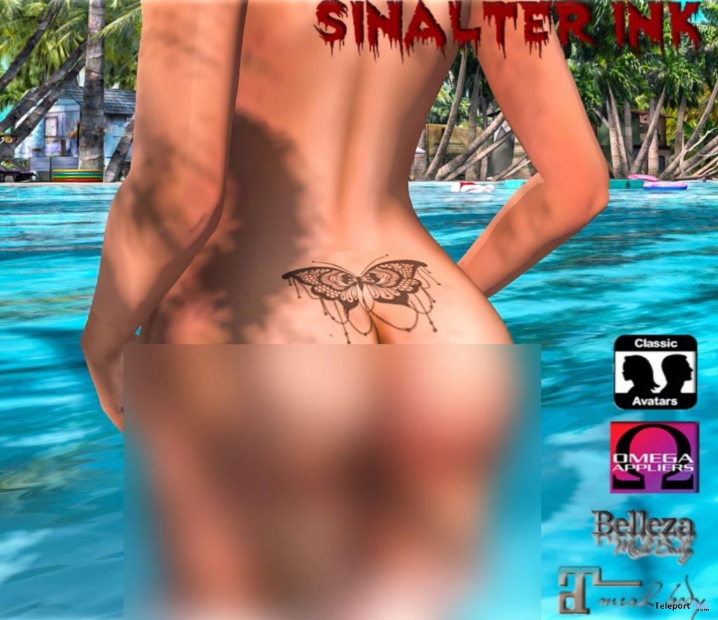 Lower Back Butterfly Tattoo May 2019 Group Gift by SinAlter Ink - Teleport Hub - teleporthub.com
